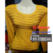 yellow-designer-full-sleeves-woollen-blouse